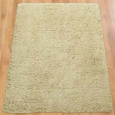 Natural Barbar Shaggy Wool Rug