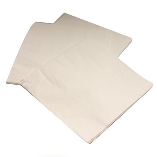 Pack of 20 White Paper Napkins