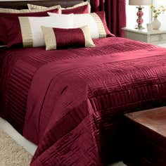 Red Athens Collection Bedspread
