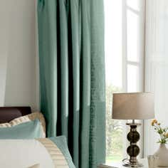 Teal Athens Thermal Pencil Pleat Curtains