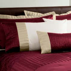 Red Athens Collection Housewife Pillowcase