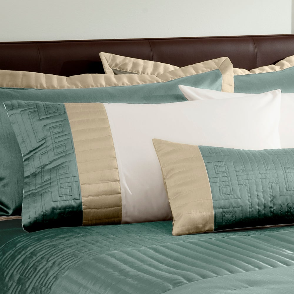 Teal Athens Collection Housewife Pillowcase