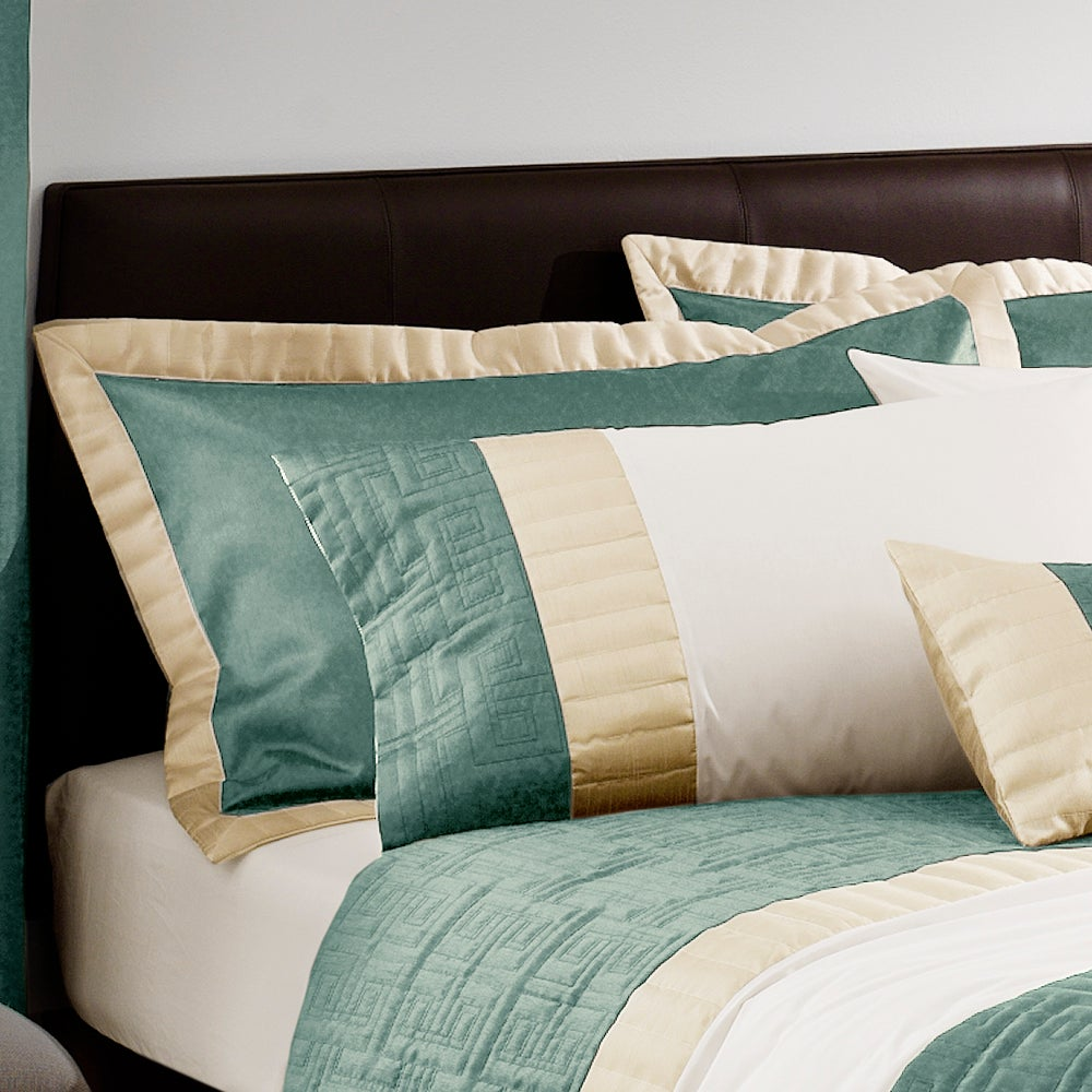 Teal Athens Collection Oxford Pillowcase