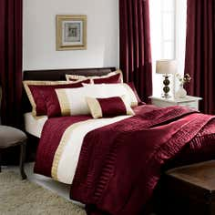 Red Athens Collection Duvet Cover