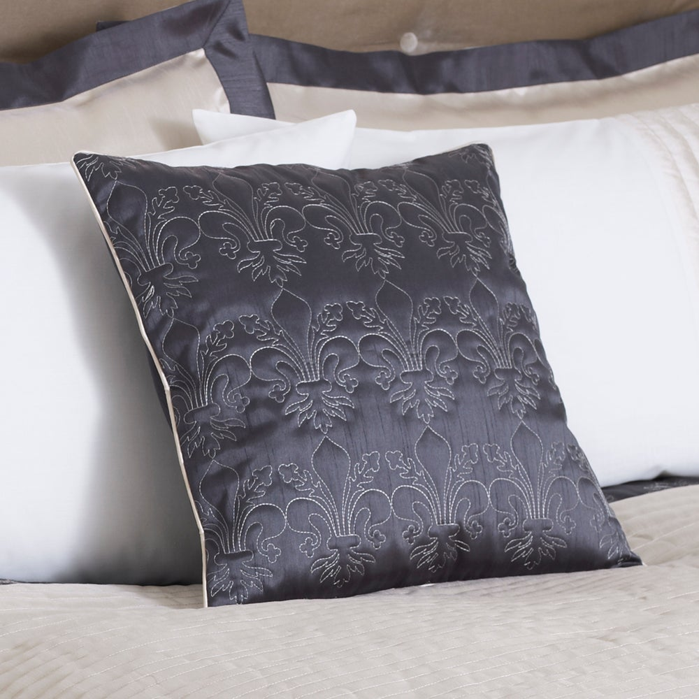 Charcoal Fleur De Lys Collection Cushion
