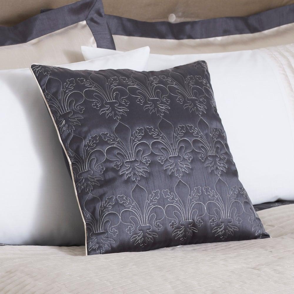 Charcoal Fleur De Lys Collection Cushion