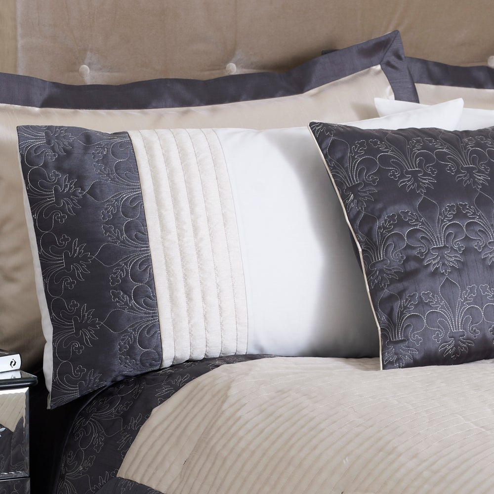 Charcoal Fleur De Lys Collection Housewife Pillowcase
