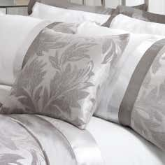 Silver Roma Damask Collection Cushion Cover