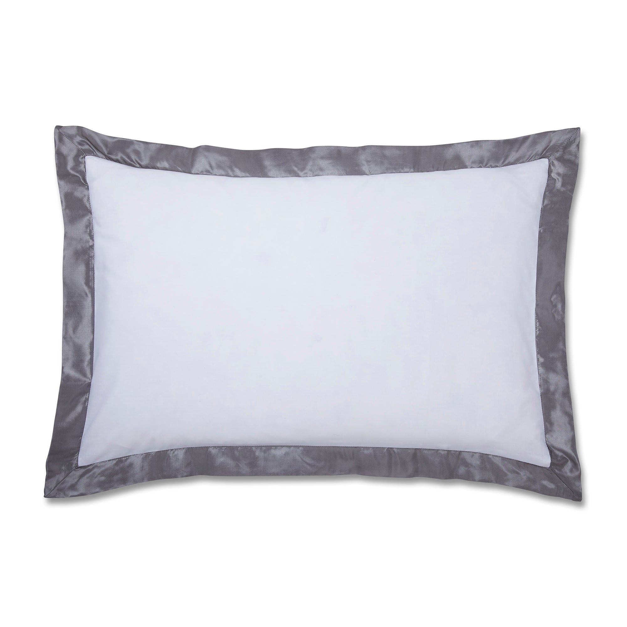 Silver Roma Damask Collection Oxford Pillowcase