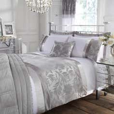 Silver Roma Damask Collection Duvet Cover