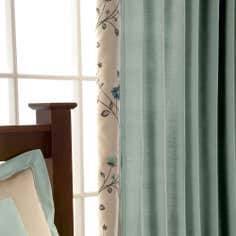 Duck Egg Ruby Lined Pencil Pleat Curtains
