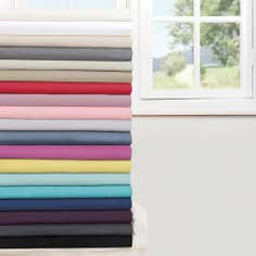 Non Iron Plain Dye Collection 3/4 Fitted Sheet