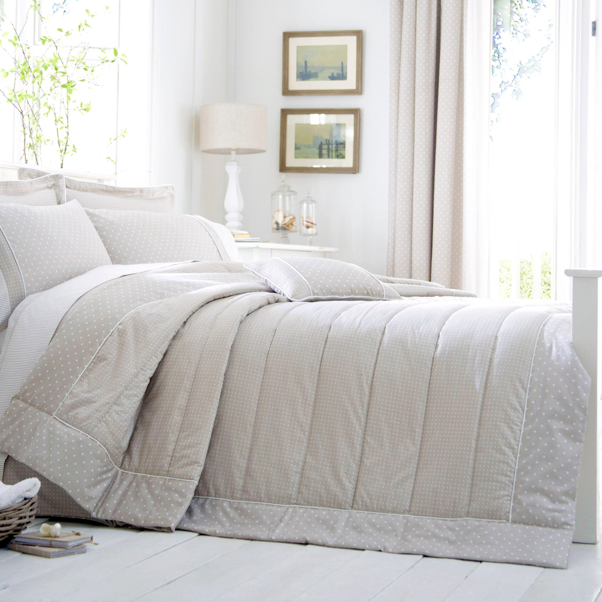 Dorma Mink Capri Collection Quilted Throw