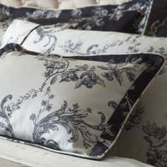 Dorma Black Emilio Collection Boudoir Cushion Cover