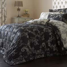 Dorma Black Emilio Collection Quilted Throw