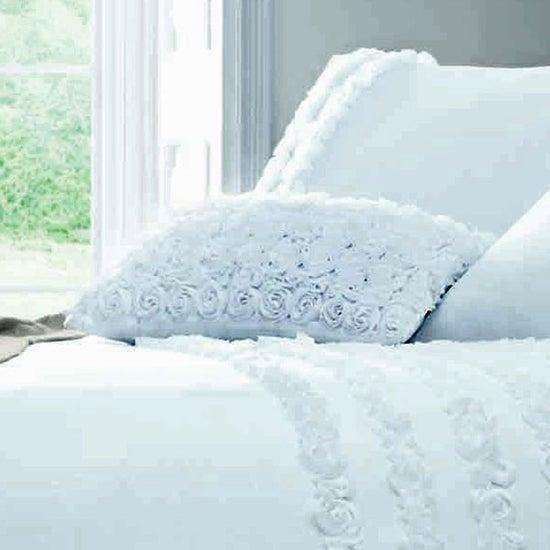 White Rosalie Collection Boudoir Cushion Cover