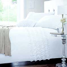 White Rosalie Duvet Cover Set