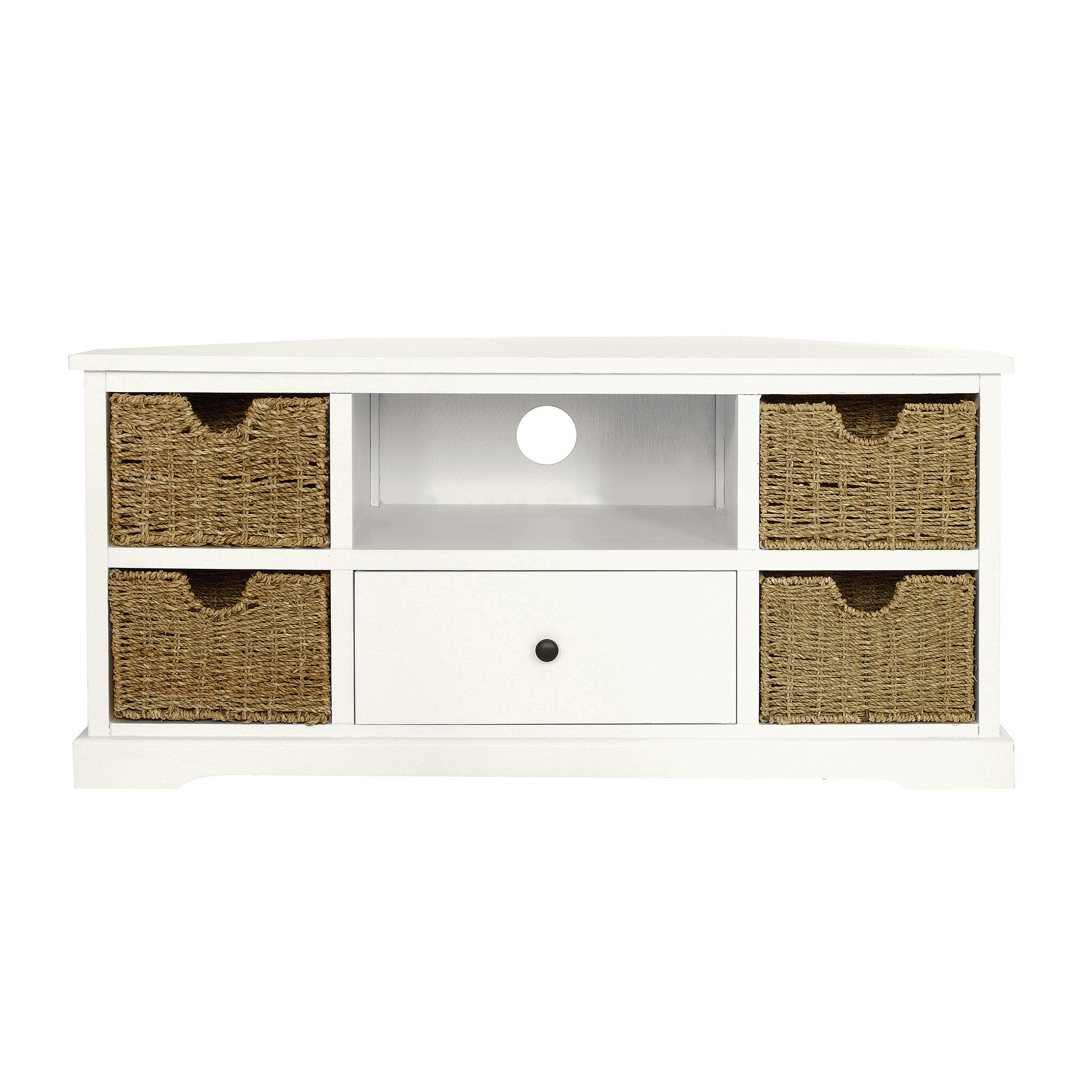Cottage Ivory Corner TV Unit