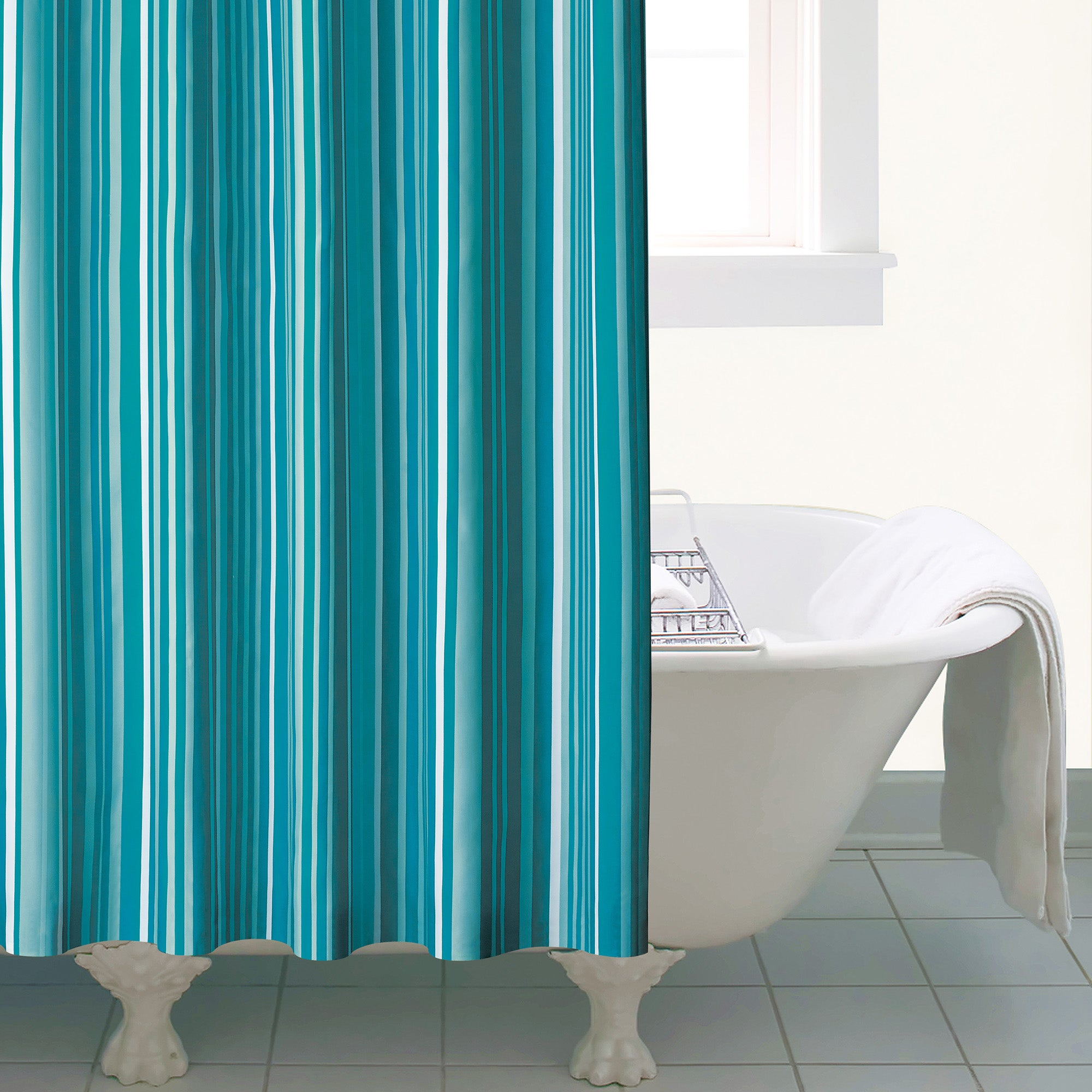 Teal Manhattan Shower Curtain
