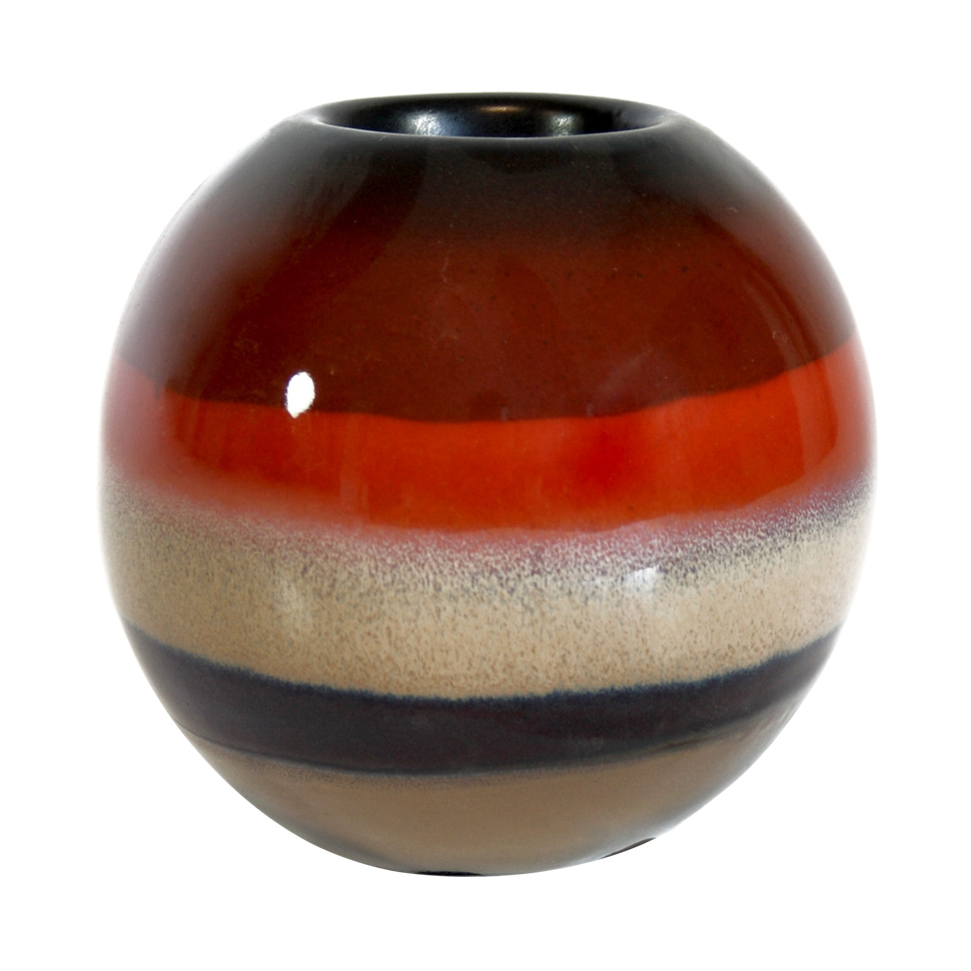 Burnt Sienna Collection Glazed Tea Light Holder