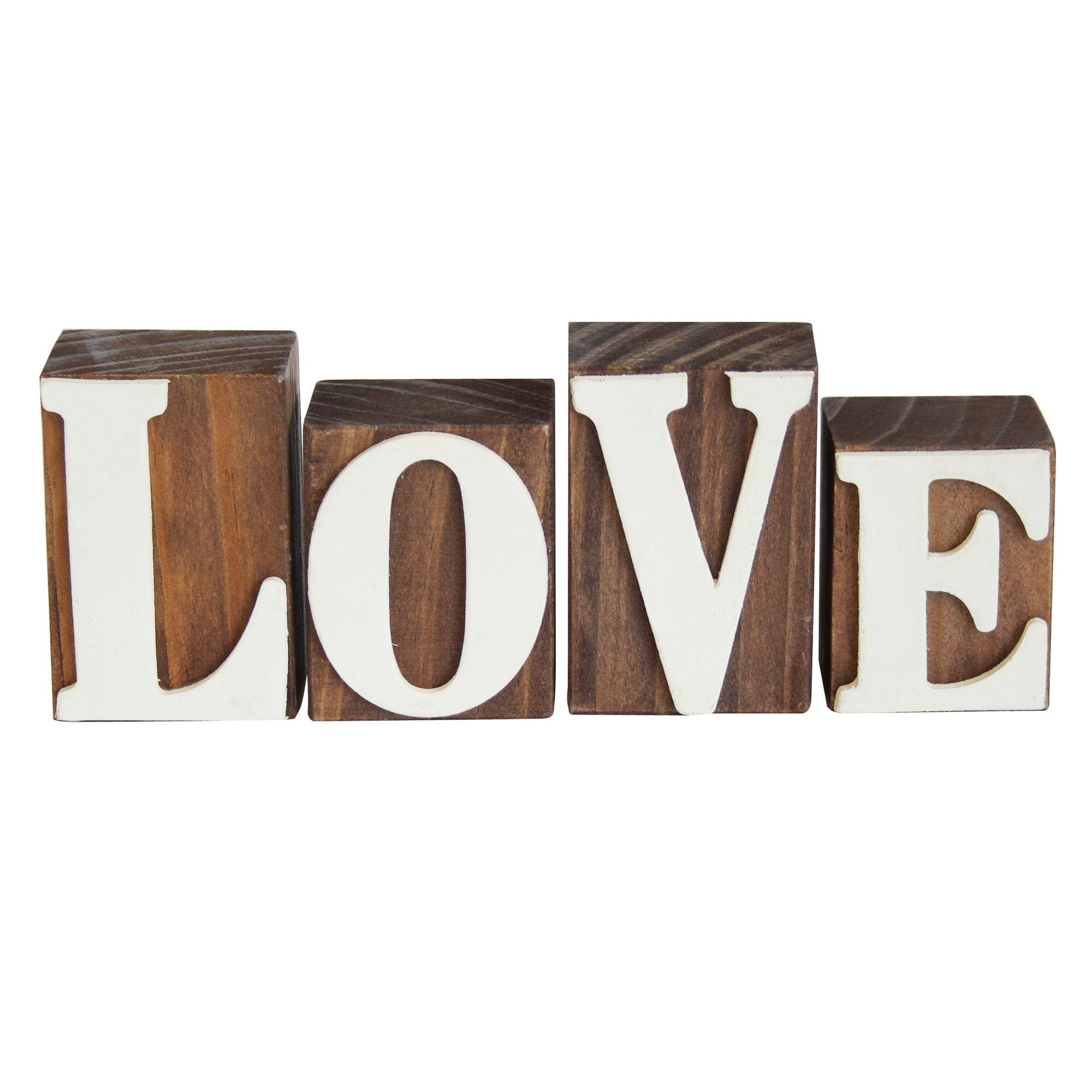 Key Lime Collection Wooden Love Blocks Set