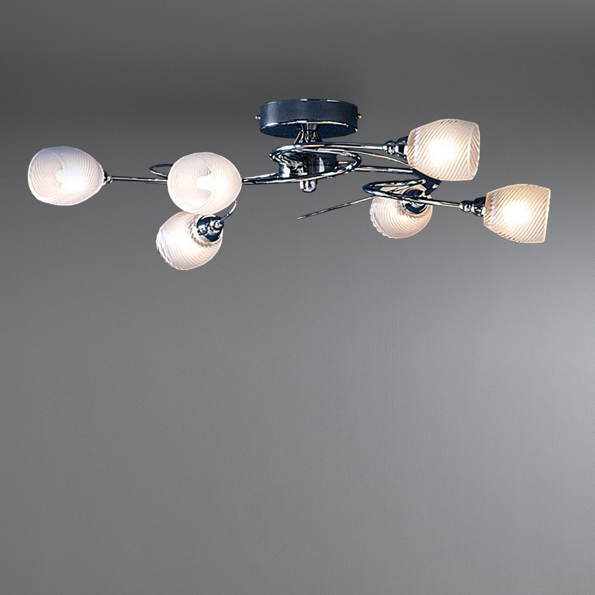 Swirl 6 Light Ceiling Fitting