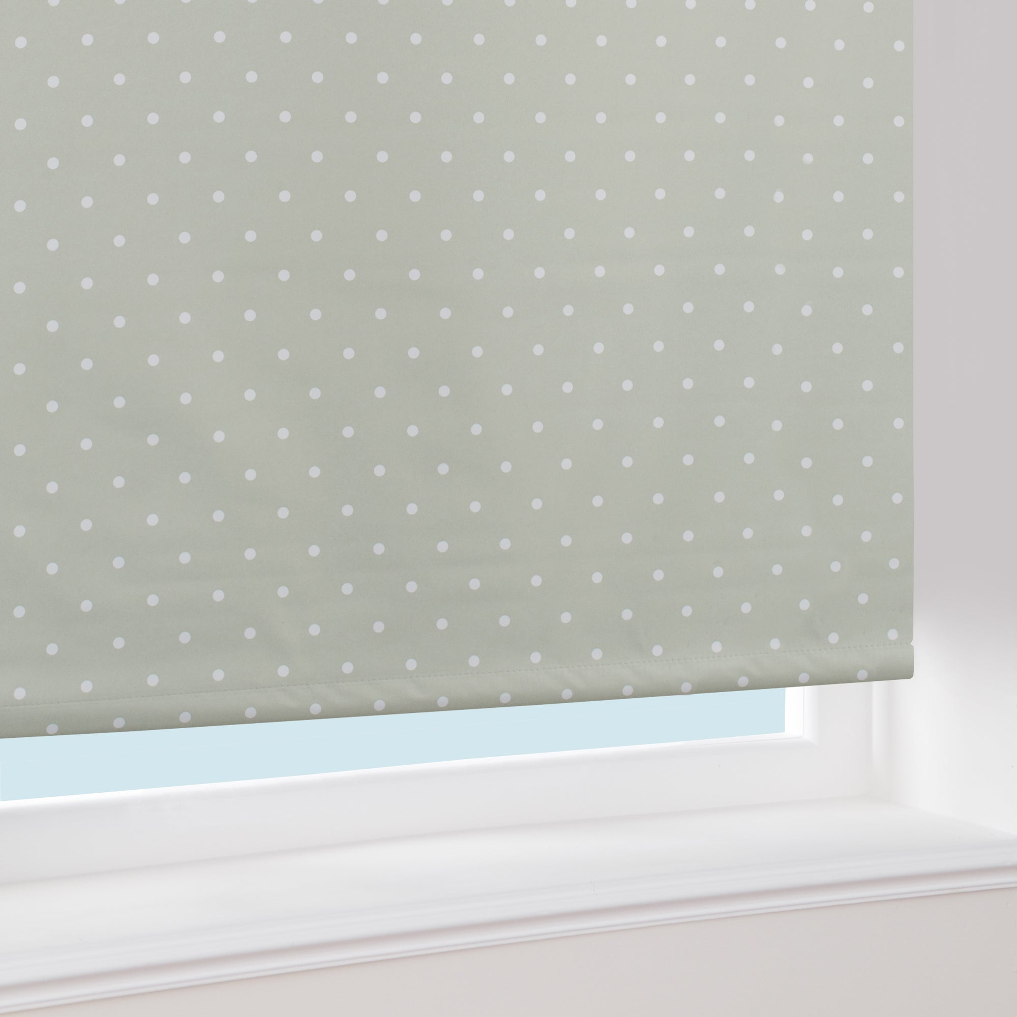 dotty blackout roller blind dunelm. Black Bedroom Furniture Sets. Home Design Ideas