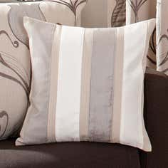 Natural Striped Lalique Collection Cushion