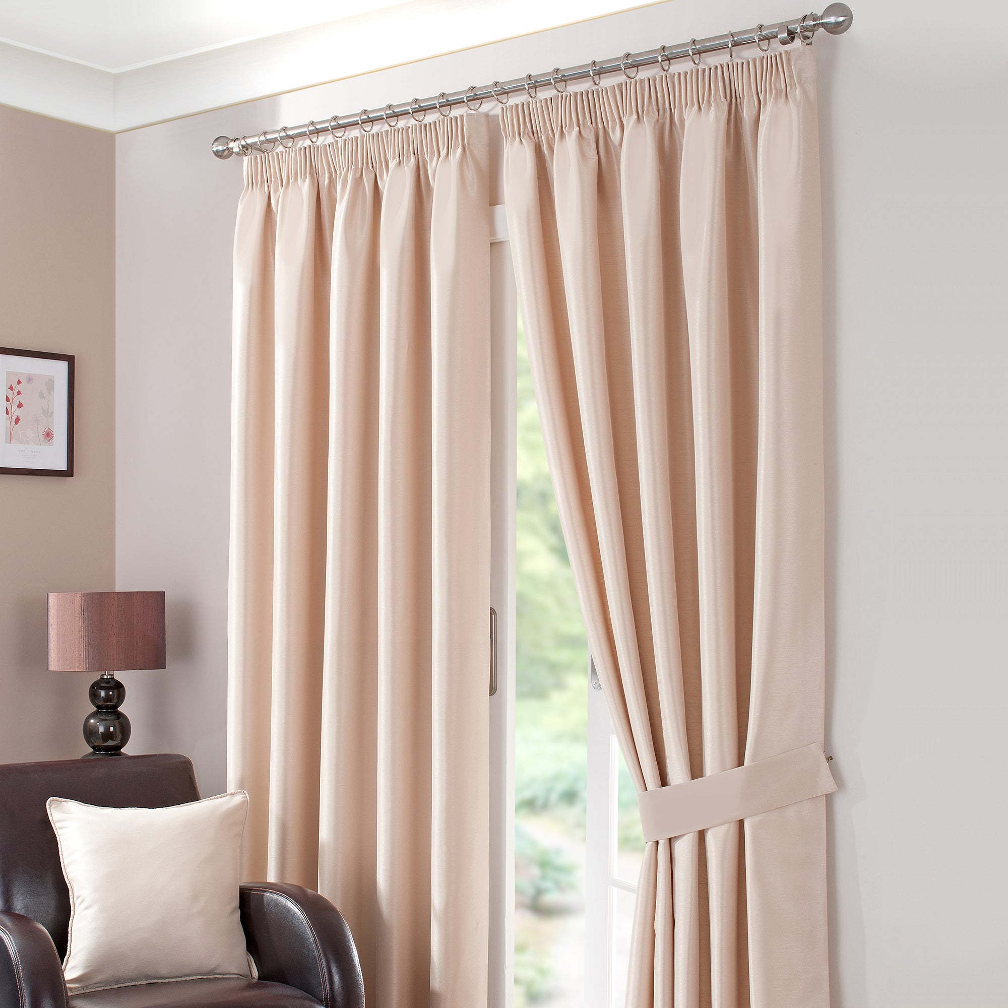 Gold Sorrento Lined Pencil Pleat Curtains