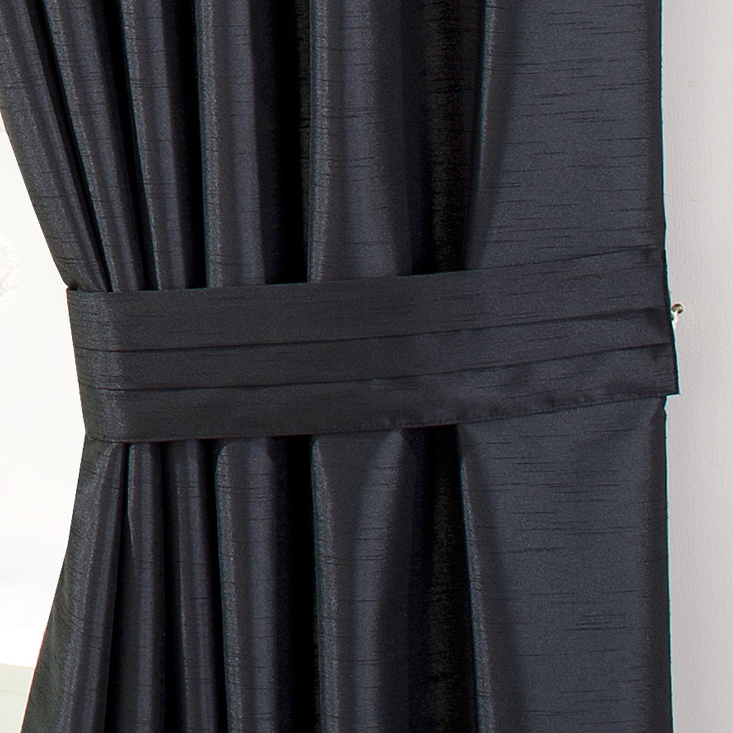 Hotel Black Pintuck Curtain Collection