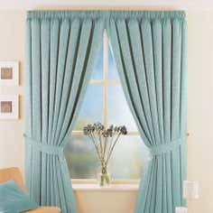 Duck Egg Toledo Thermal Pencil Pleat Curtains