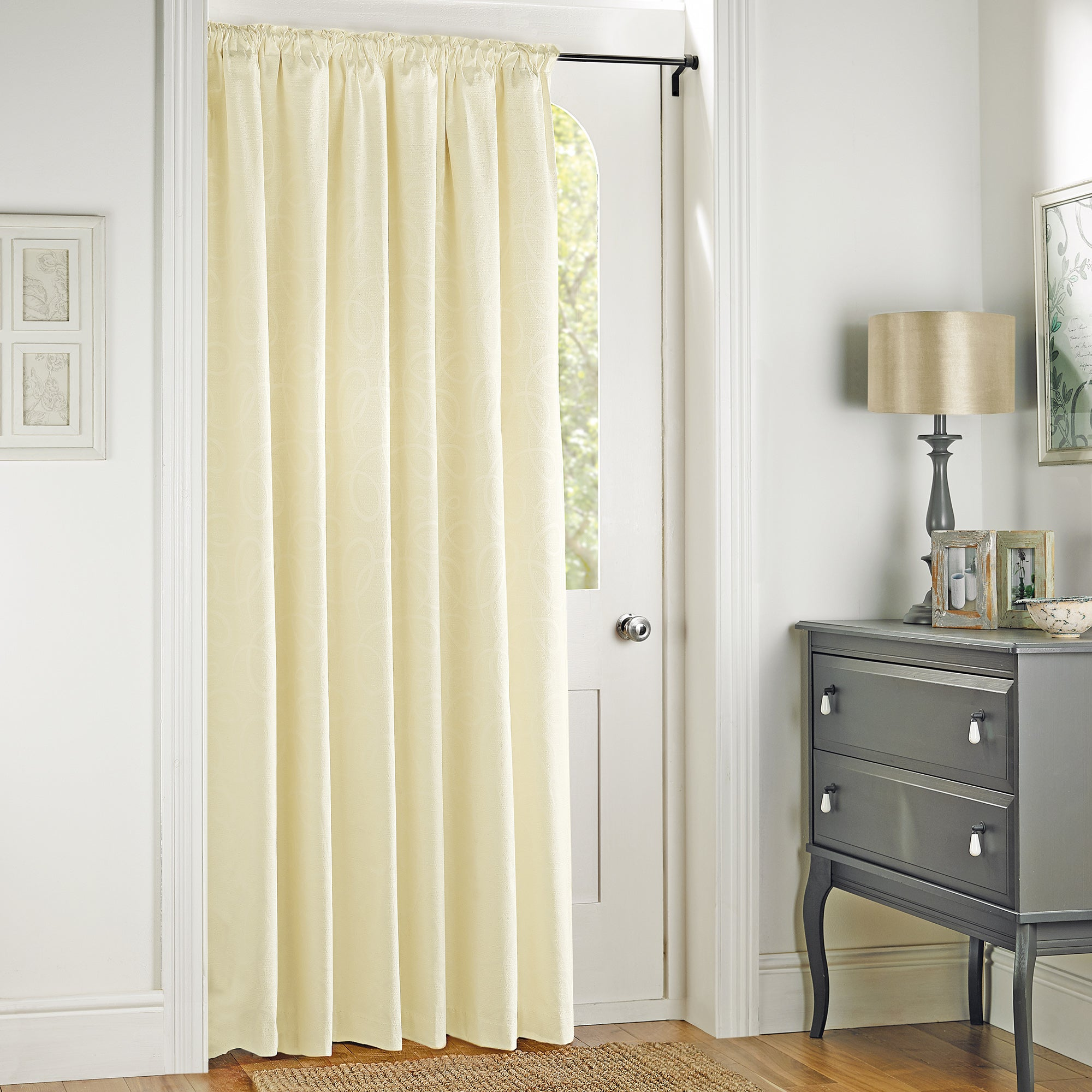 Cream Toledo Collection Door Curtain