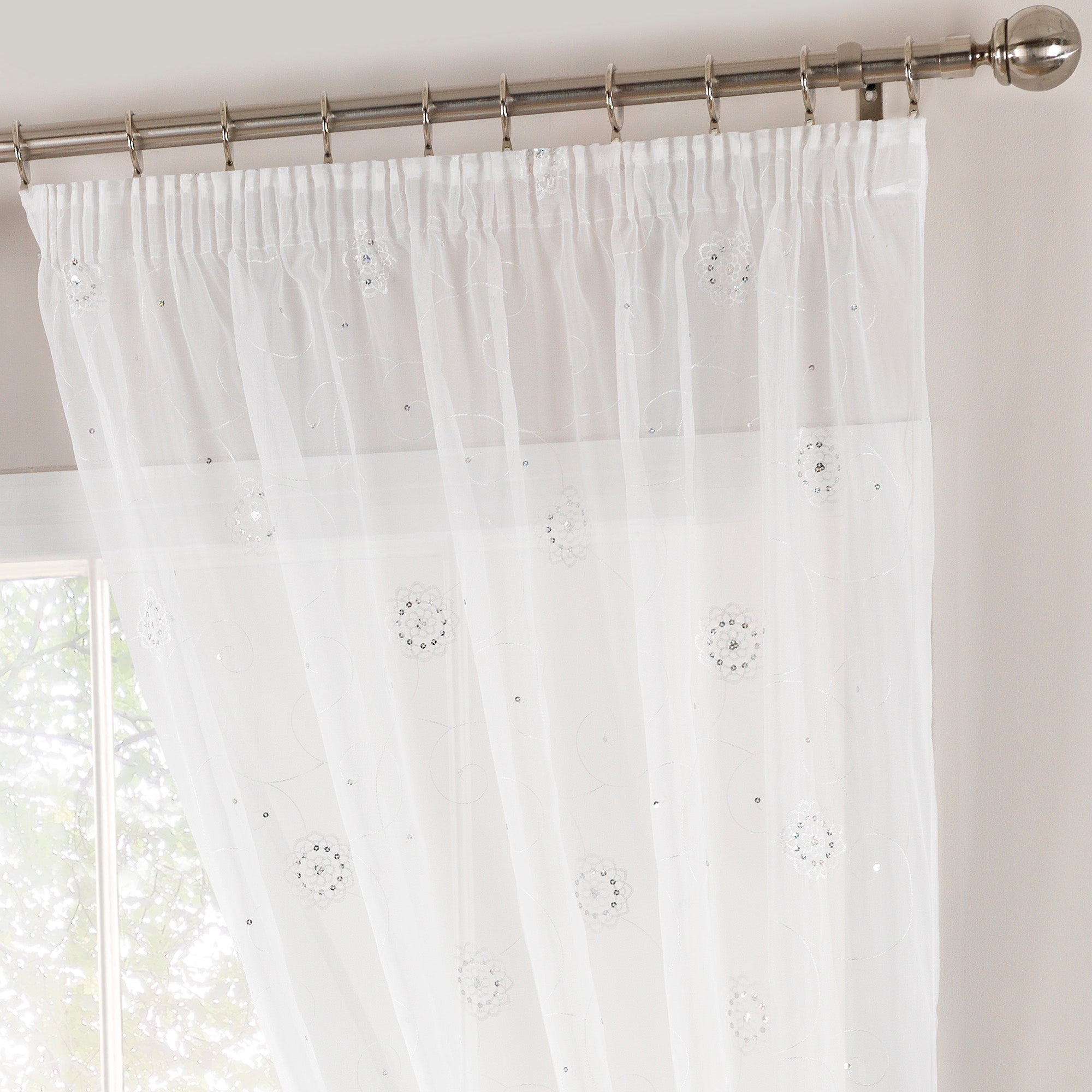 White Crystal Voile Panel
