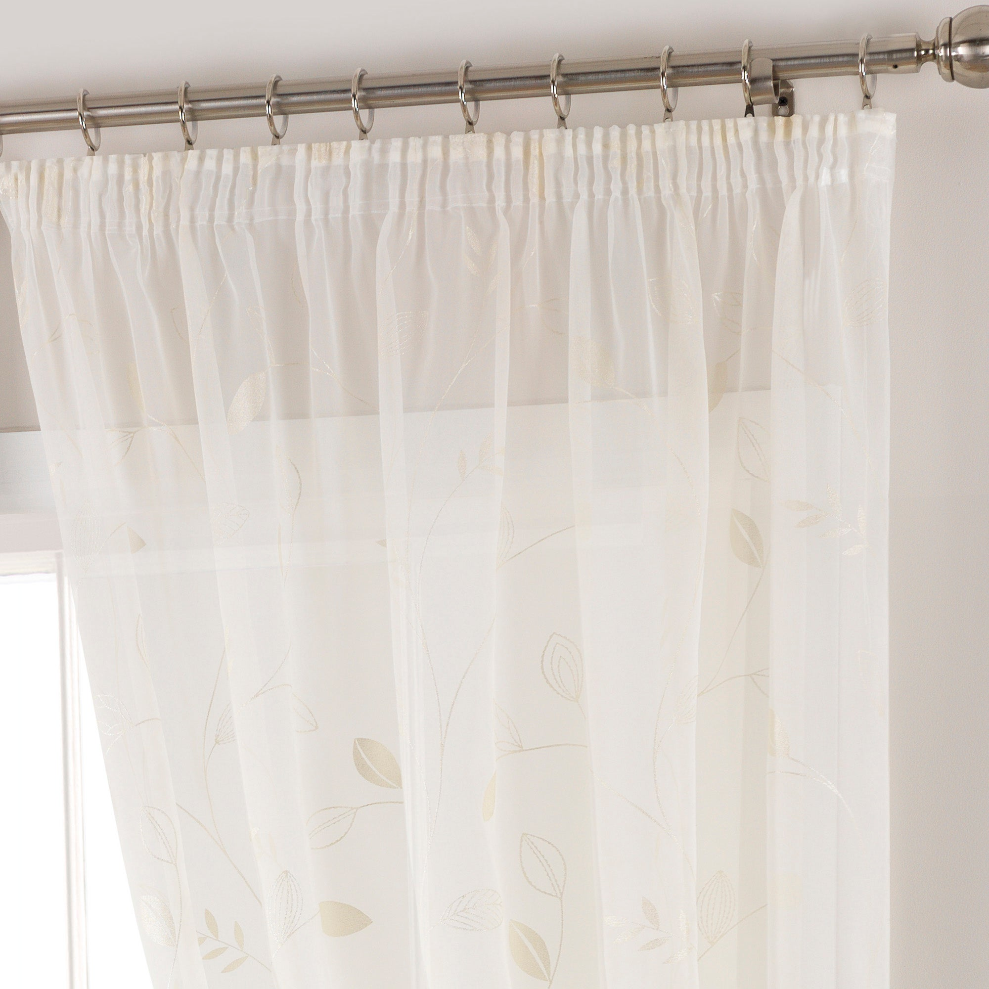 Cream Folio Voile Panel