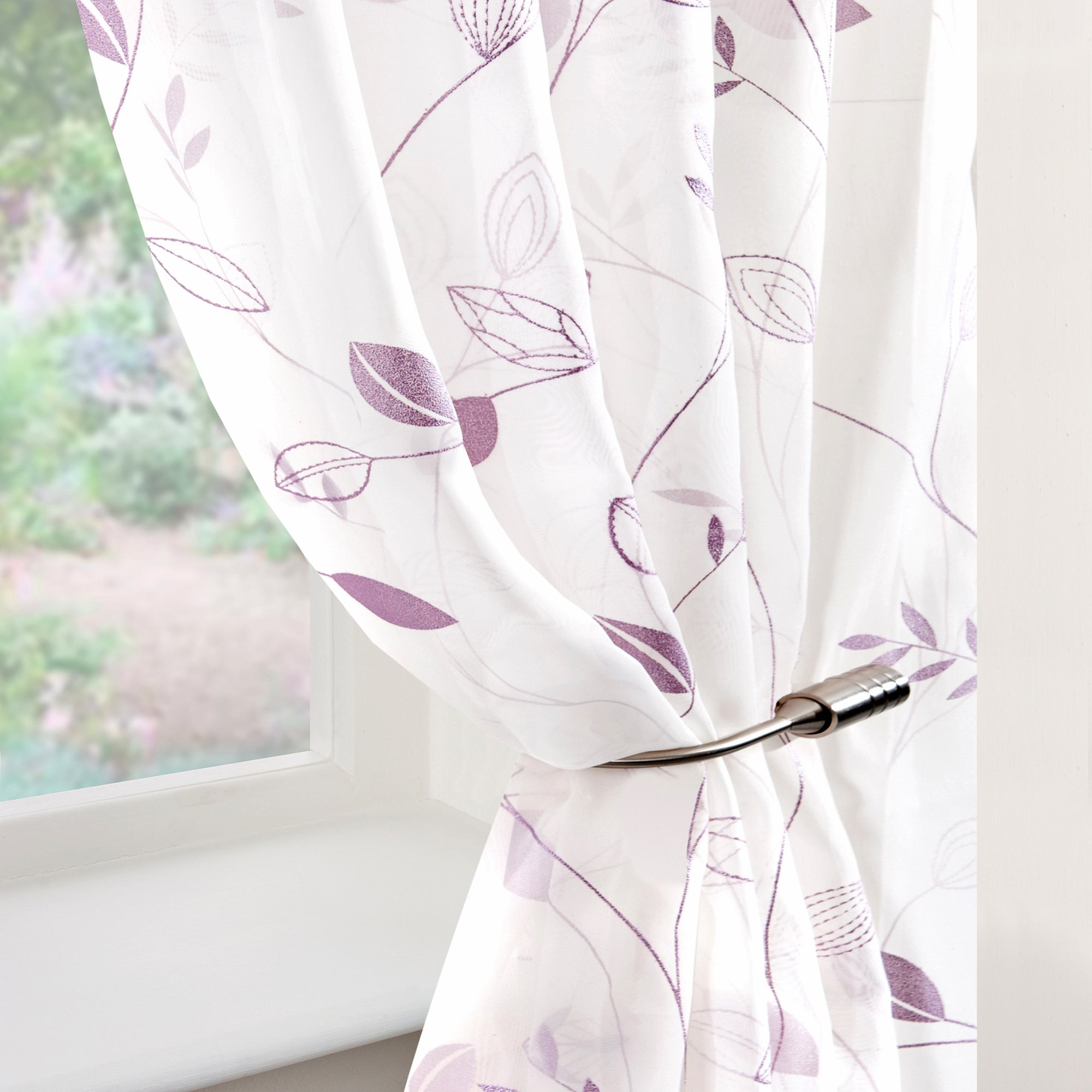 Mauve Folio Voile Panel
