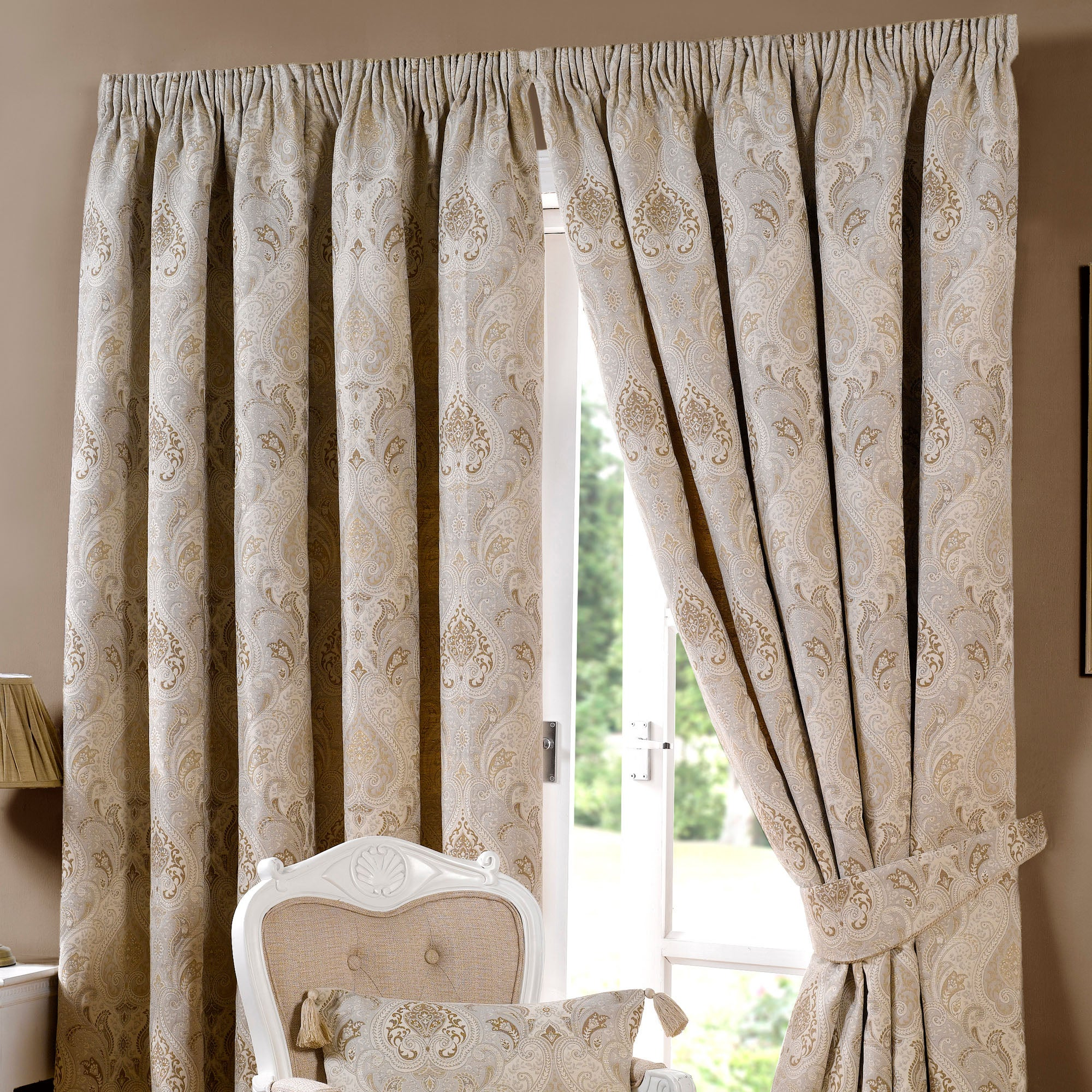 Beige Novello Curtain Collection