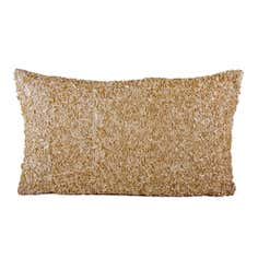 Gold Ribbons Filled Cushion