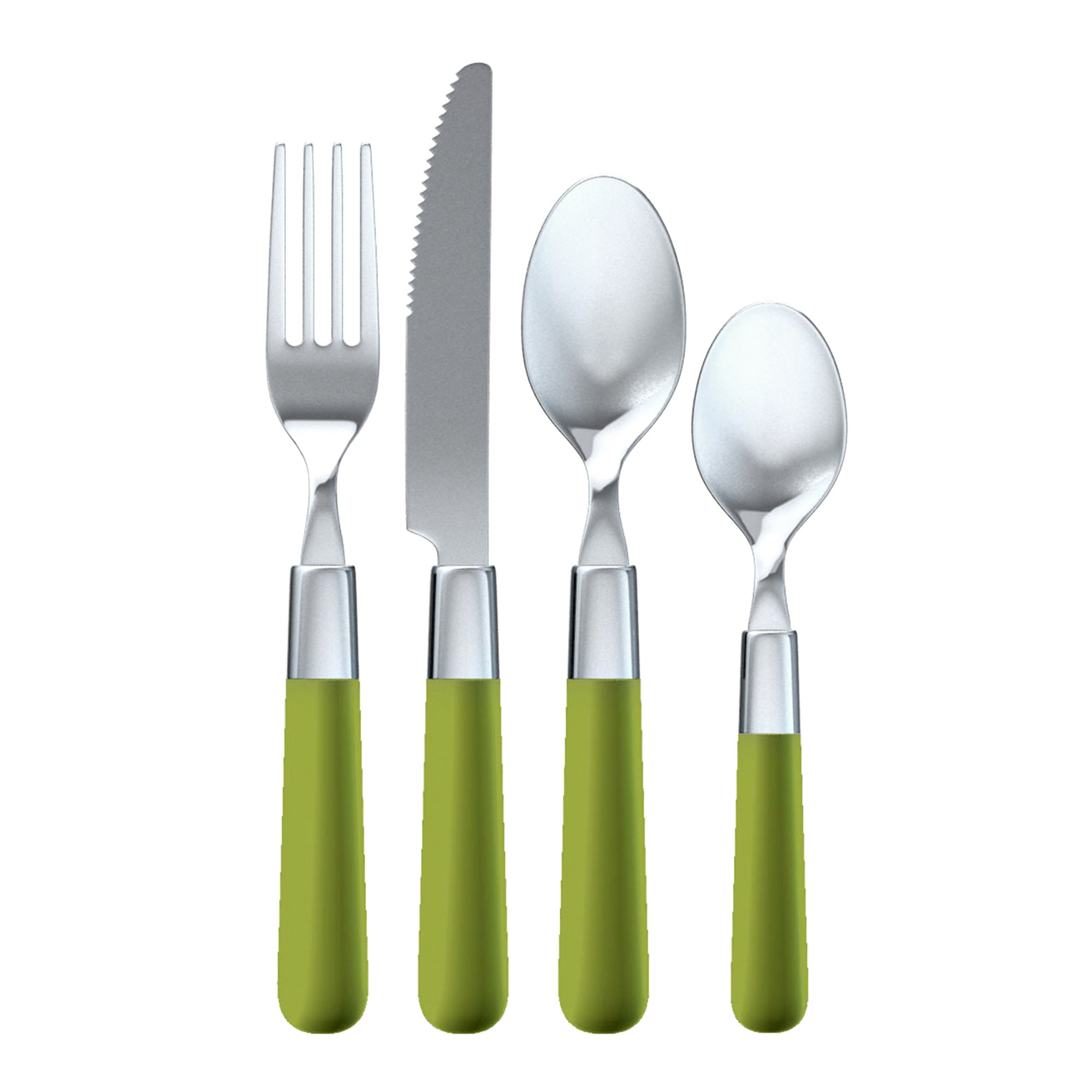 Brit Pop Collection Green 16 Piece Cutlery Set