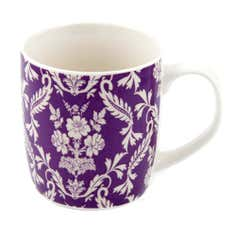 Purple Damask Mug