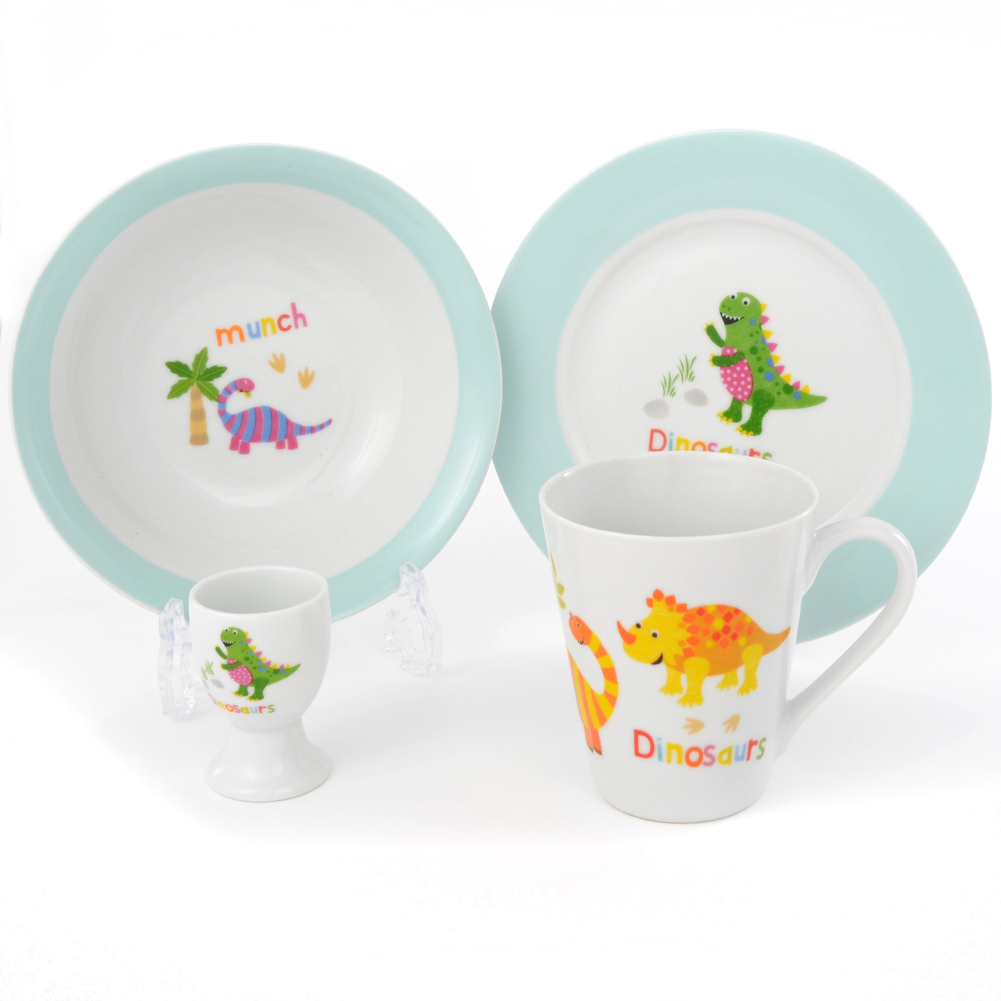 Dinosaurs Collection 4 Piece Breakfast Set