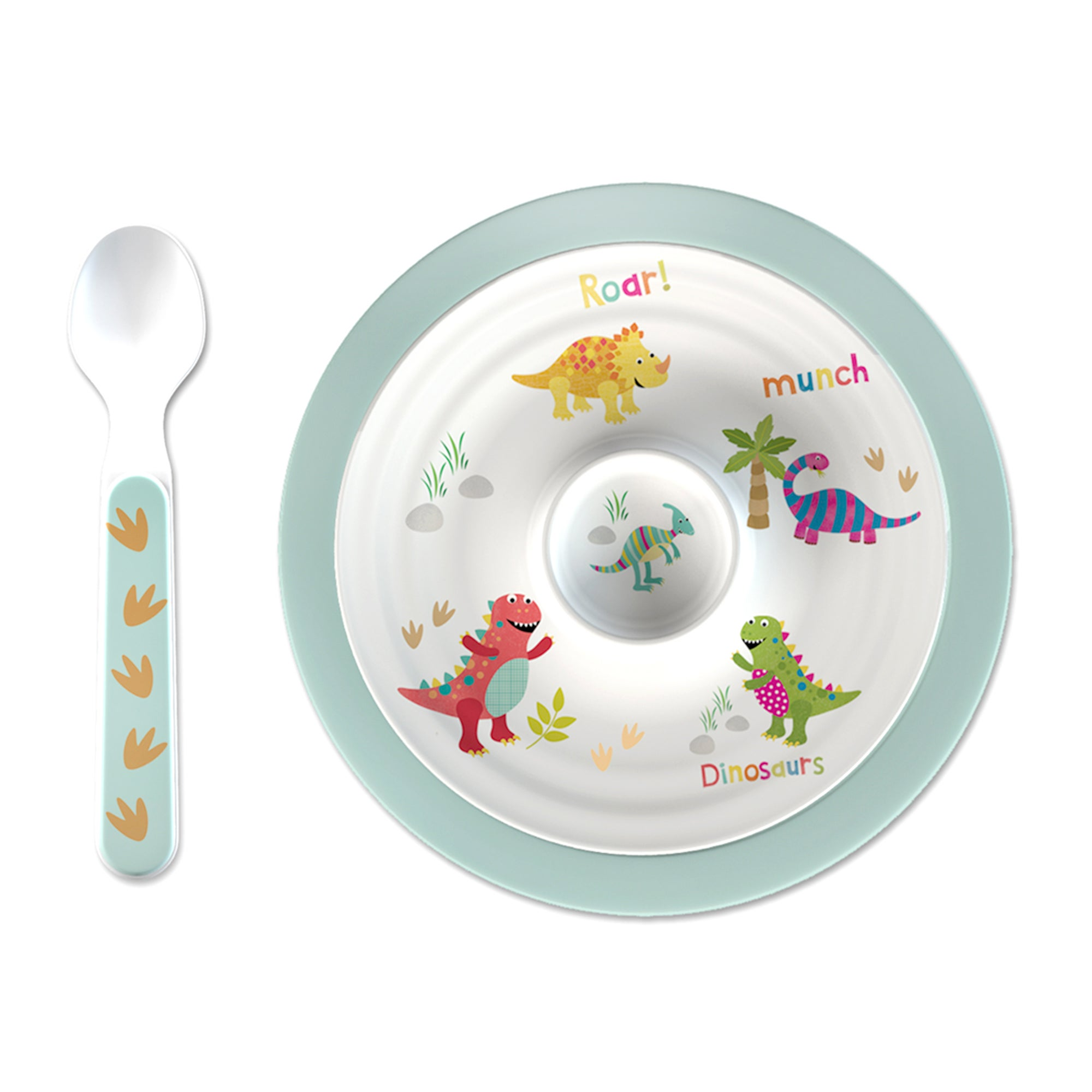 Dinosaur Collection Egg Cup and Spoon Set