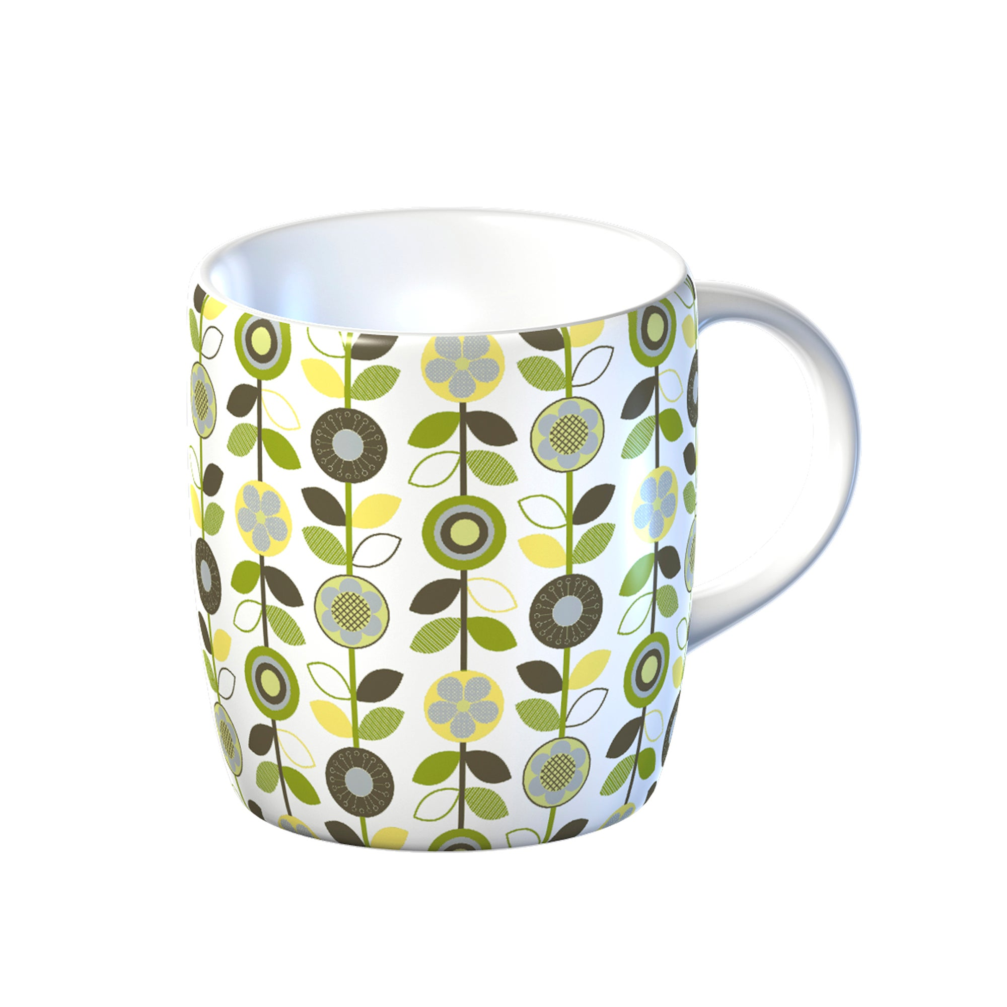 Modern Country Leaf Collection Flowers Mug