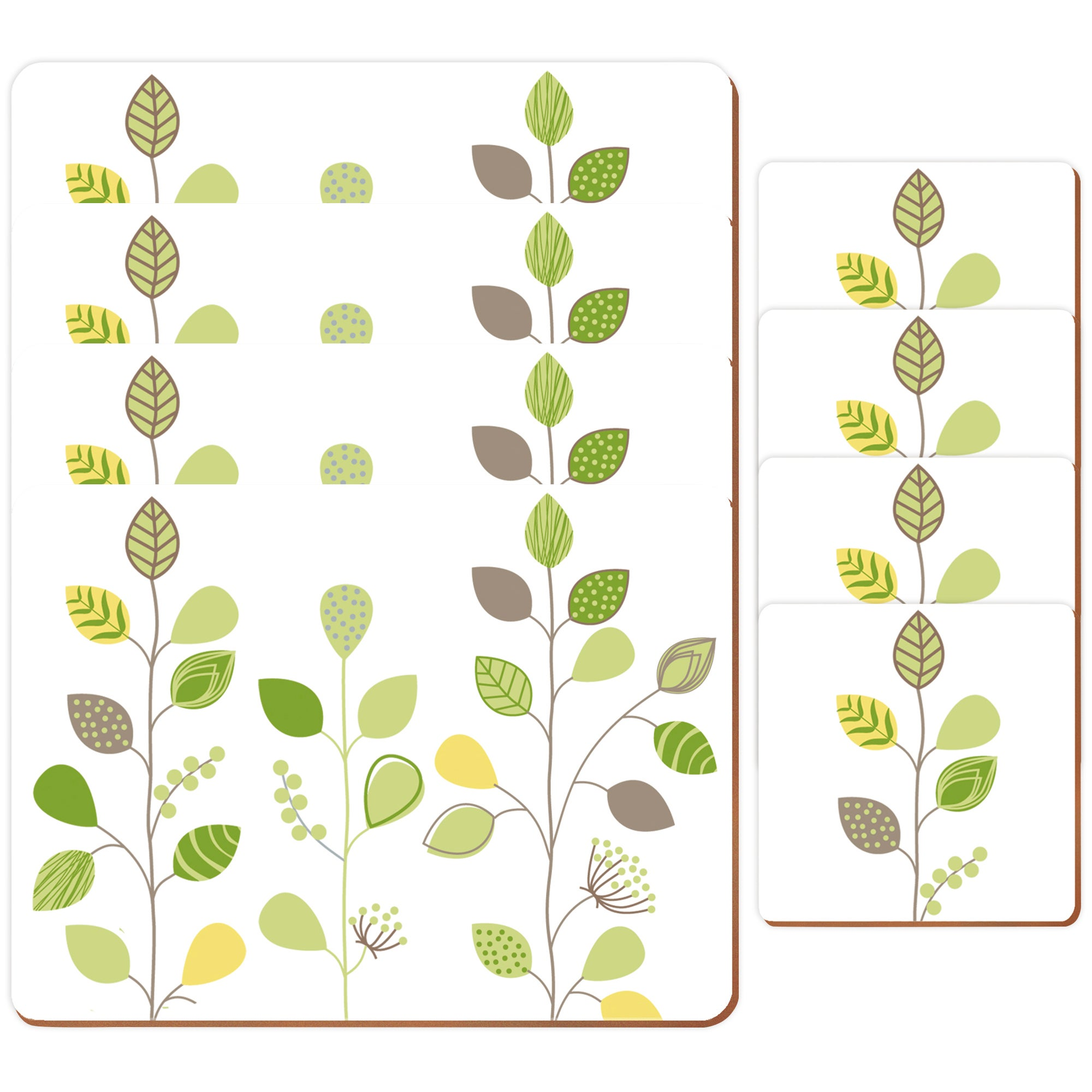 Modern Country Leaf Collection Placemats and Coasters