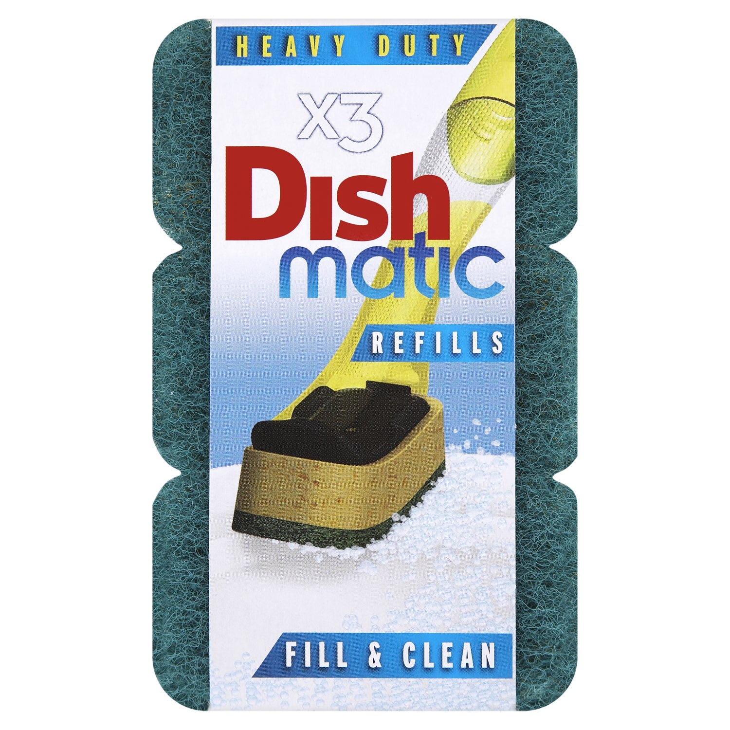 Pack of 3 Dishmatic Fill and Clean Scourer Refills