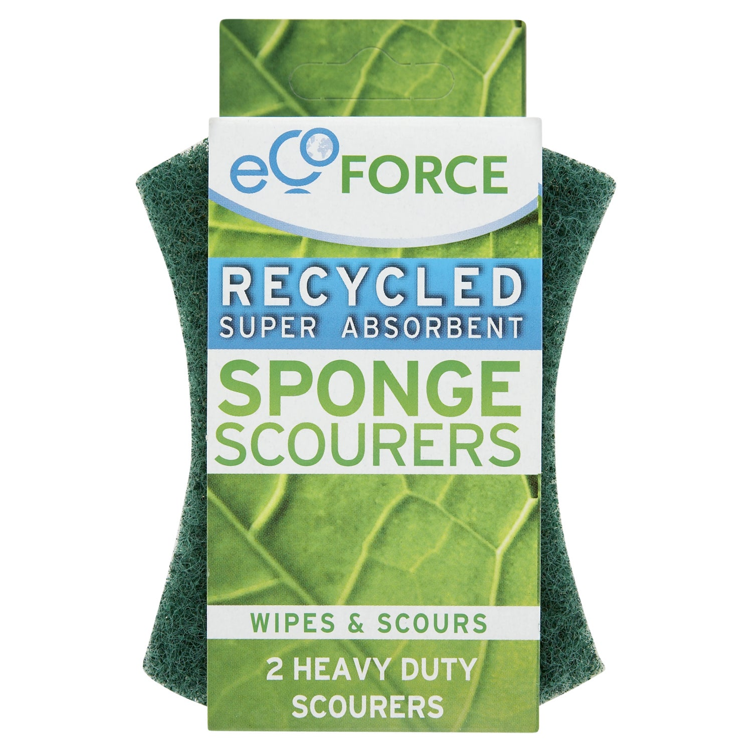Pack of 2 EcoForce Recycled Super Absorbent Scourers