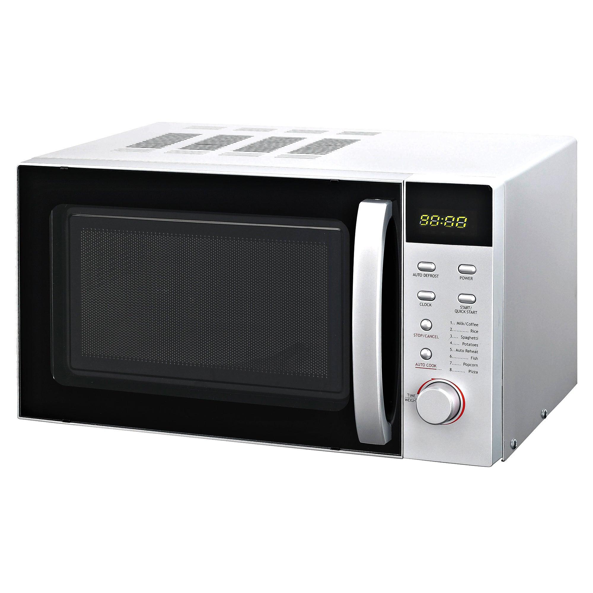 Silver Digital Microwave Silver