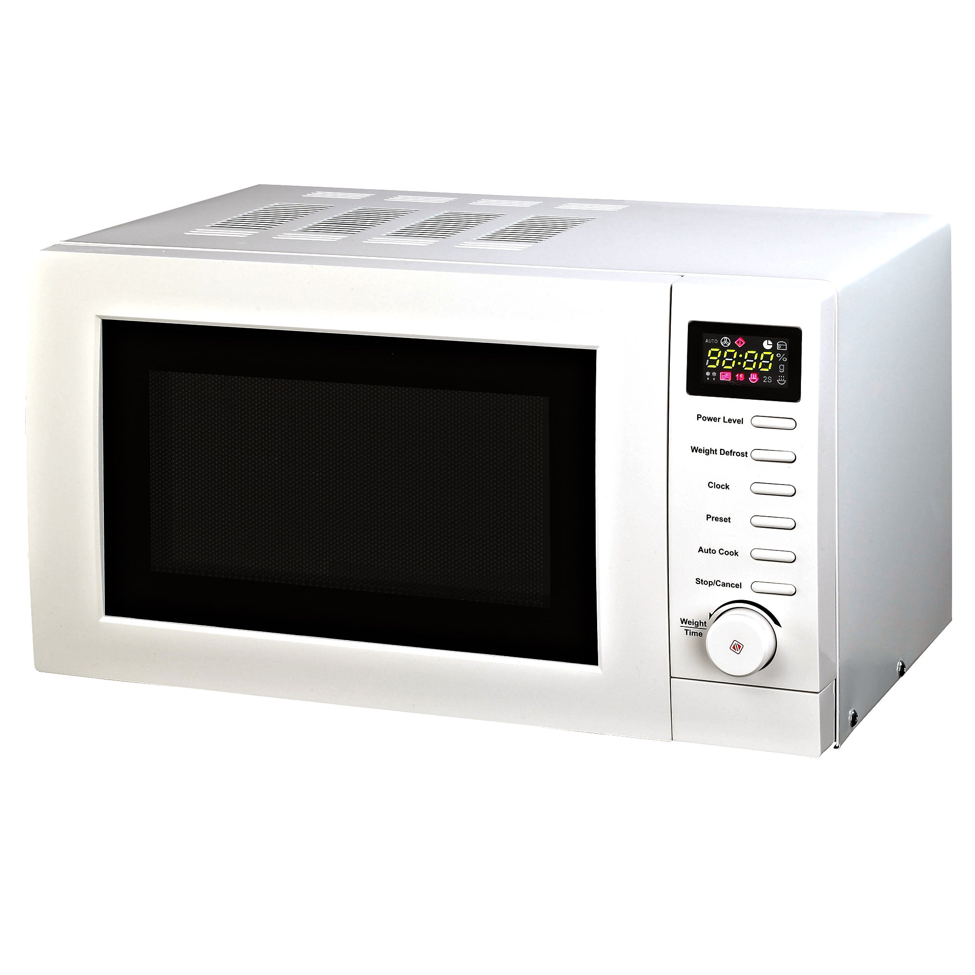 White Digital Microwave