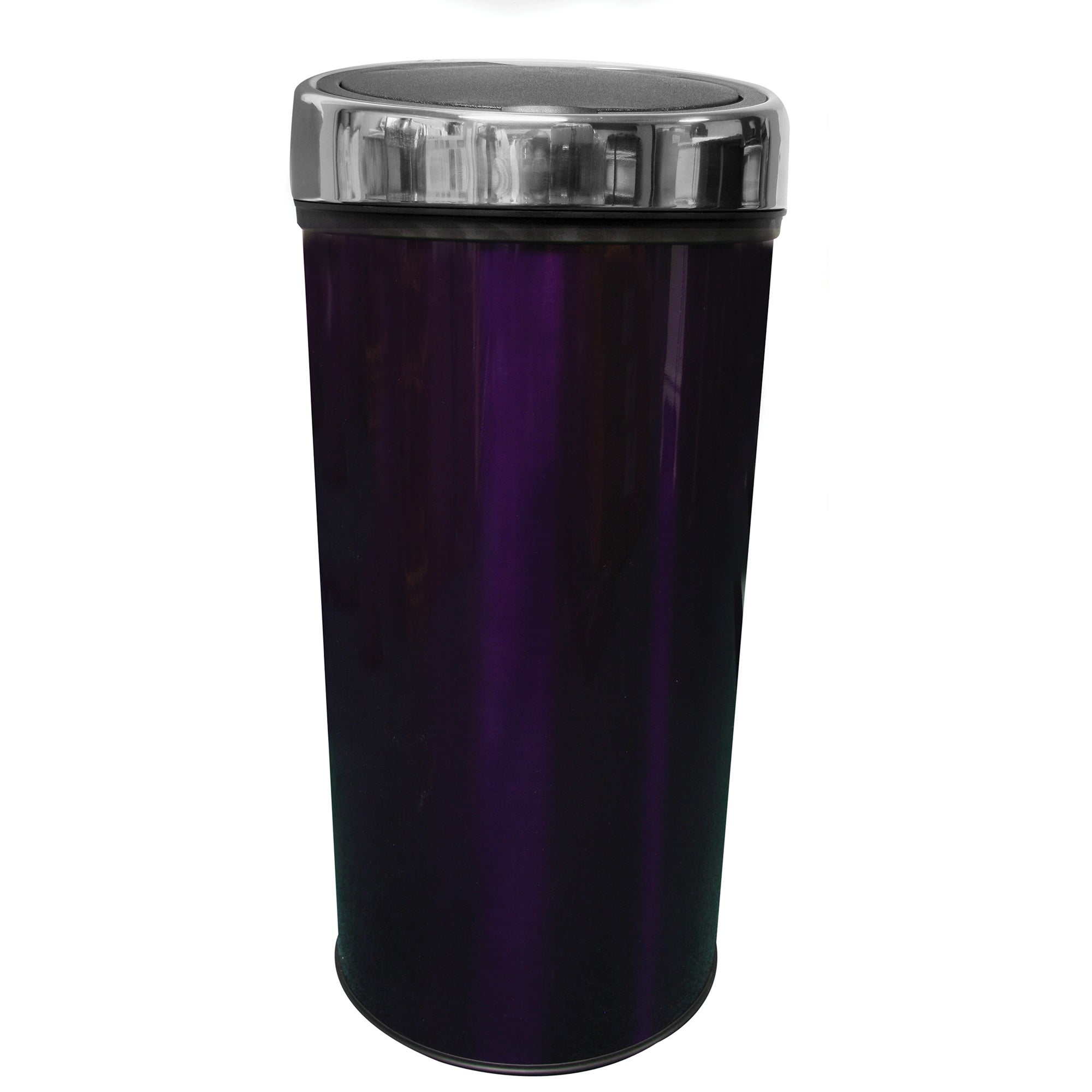 Purple Spectrum Collection Metallic 30 Litre Press Top Bin