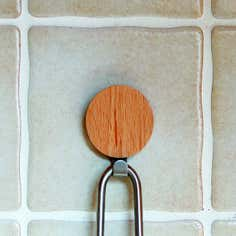 Wood and Metal Round Hook