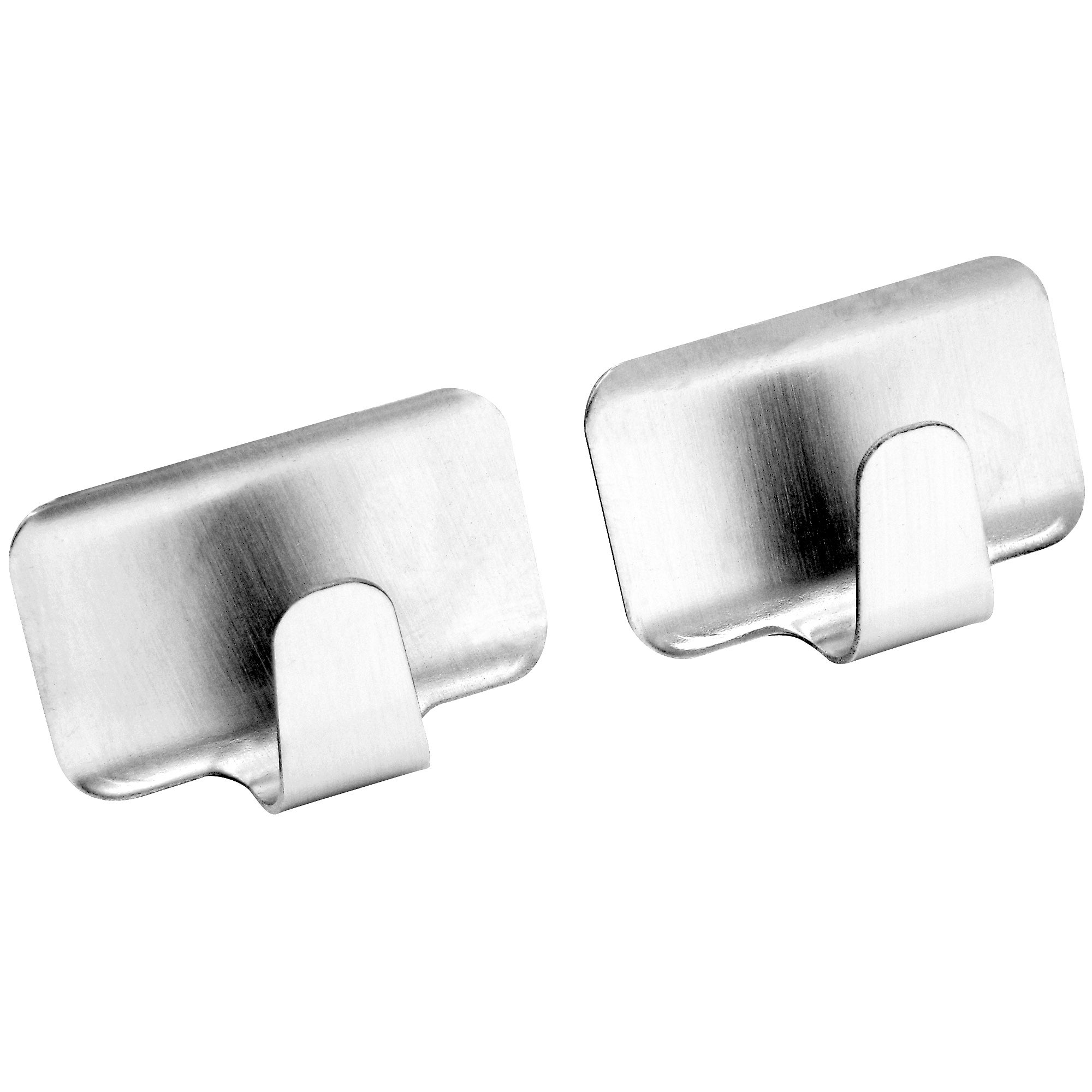 Pack of 2 Rectangular Stainless Steel Hooks